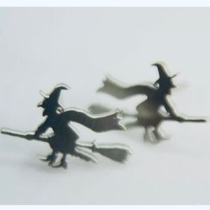 Flying Witch Earrings. New!!